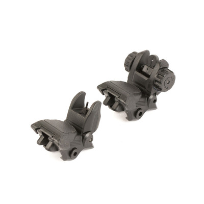 Omega Mfg Inc Polymer Backup Sight Set - Black