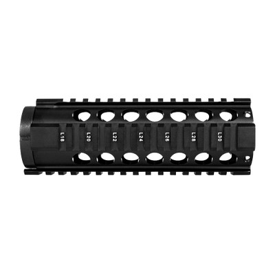 "Trinity Force AR-15 M4 Mid Length 7"" free float quad rail system - black"