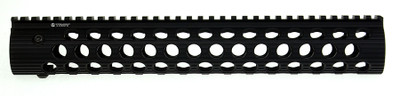 "MMC AR-15 Tactical 13"" Quadrail Circle Port Troy Alpha Engraved Handguard"