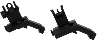 TacFire Front and Rear 45 Degree Spring Loaded Flip-Up Sights