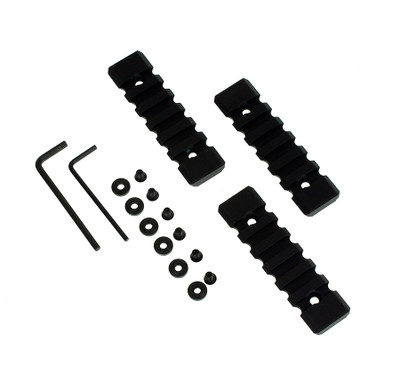 """Attachment Solutions 3 Piece 3"""" Keymod Picatinny Rail Sections"""