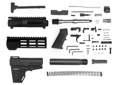 "Davidson Defense ""Accolade"" Complete Pistol Kit 7.5"" Match Grade Stainless 5.56 NATO 1-7 Twist Barrel W/ 7"" M-Lok Free Float Handguard KAK Blade LPK - Everything Except Lower & BCG!"