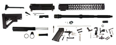 "Davidson Defense ""Diamondback"" AR-15 Rifle Build Kit W/ 16"" 5.56 1:8 M4 Barrel & 12"" Gen lll Light Keymod Handguard - Everything Except Lower & BCG"