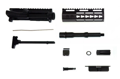 "Davidson Defense ""Spear"" AR-15 Deluxe Pistol Upper Kit 7"" 5.56 NATO 1:7 Nitride Finish Barrel & 7"" Echo Slim Keymod Handguard - Includes Charging Handle"