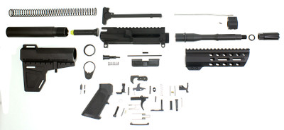 "Davidson Defense ""Dakota"" Complete Pistol Kit 7.5"" 5.56 NATO 1-7 Twist Barrel W/ 7"" Executive Diamond M-Lok Slim Handguard KAK Blade LPK - Minus Lower & BCG"