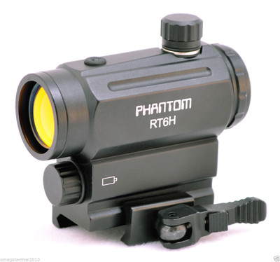 PHANTOM Light Sensor RT6H Mini Micro Red Dot Scope Sight with QD Riser Mount
