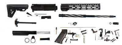 "Aero Precision ""Premium Edition"" Ar-15 Complete Rifle DIY Kit Match Grade 16"" Spiral Fluted .223 Wylde 1-8 T Barrel Nitride & Stainless Barrel 12"" MX-12 M-Lok Handguard  ( This Upper Kit Unassembled)"
