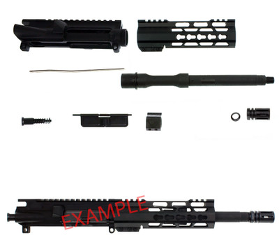 "Davidson Defense ""Defender"" Ar-15 Deluxe DIY Pistol Upper Kit 10.5"" 5.56 NATO 1:7 Barrel 7"" Super Slim Ultra Lite Keymod Handguard"