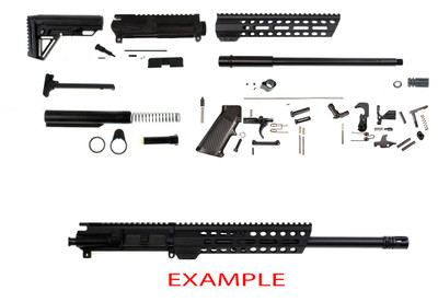 "Davidson Defense ""Coto"" Ar-15 DIY Rifle Build Kit 16"" 300 Blackout Hbar 1:8 Twist Nitride Barrel 10"" M-Lok Slant Pro Handguard - Everything Except Lower & BCG"