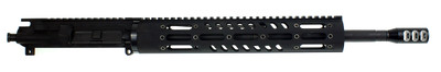 "Davidson Defense ""Jupiter"" AR-15 Assembled Upper 16"" .223 WYLDE M4 1:9 T Barrel 12"" Remington Military M-111 Handguard & Super Comp Muzzle Brake"