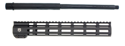 "DXXtreme Barrel Co. .450 Bushmaster 16"" Heavy Barrel 1-24T  + 12"" FS Defense M-Lok Free Float Handguard Combo Deal"