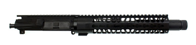 "Aero Precision ""Pathfinder"" Ar-15 Assembled Pistol Upper 7.5"" 5.56 NATO 1-7 T Barrel 10"" Light Specter Keymod Handguard & Faux Suppressor Silencer"