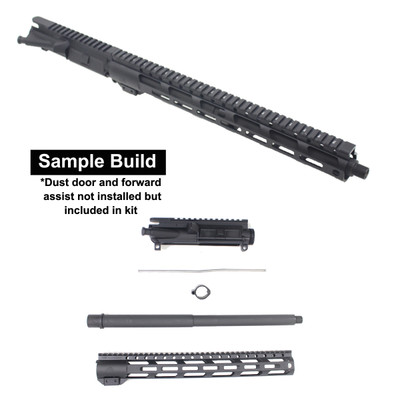 "Davidson Defense ""Widowmaker"" Unassembled DIY AR-15 Upper Build Kit .450 Bushmaster 16"" 4150 CrMo Steel 1:7T HBAR 15"" MX-15 MLOK Handguard"