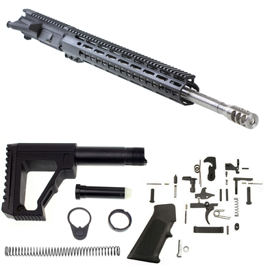 "MMC Armory Ar-15 ""Domino"" Complete Assembled Rifle Kit  Ar-15 20"" 6.5 Grendel Overmatch 5R Rifled 416R Stainless 1-8T HBAR Barrel  Black Diamond 15"" Keymod Handguard"