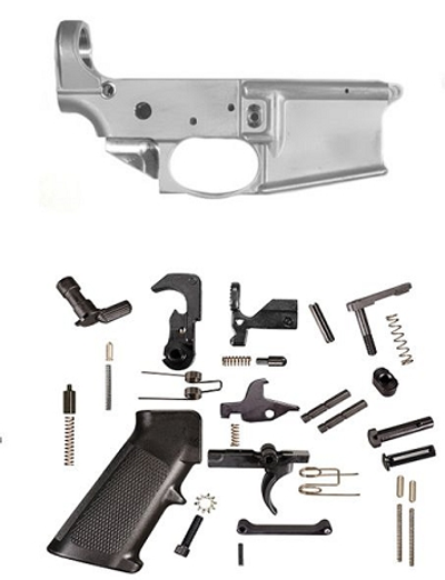 US Tactical Ind 80% Ar-15 Forged Lower Receiver PLUS Lower Parts Kit Combo **Priced Below Dealer Cost**