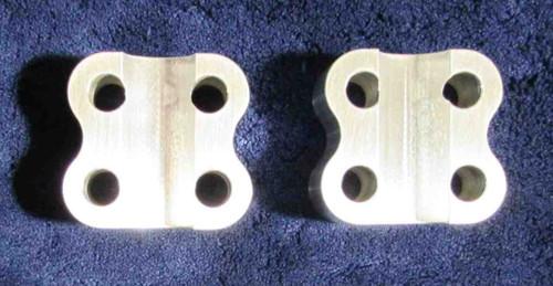 BSA/TRIUMPH UNIT CONSTRUCTION T120 ALUM FORK SPINDLE CAPS DRUM BRAKES 1971/72 PART 97-3947