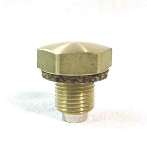 TRIUMPH BRASS OIL TANK DRAIN PLUG WITH MAGNET