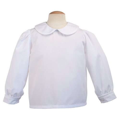 Piped Long Sleeve Blouse - White