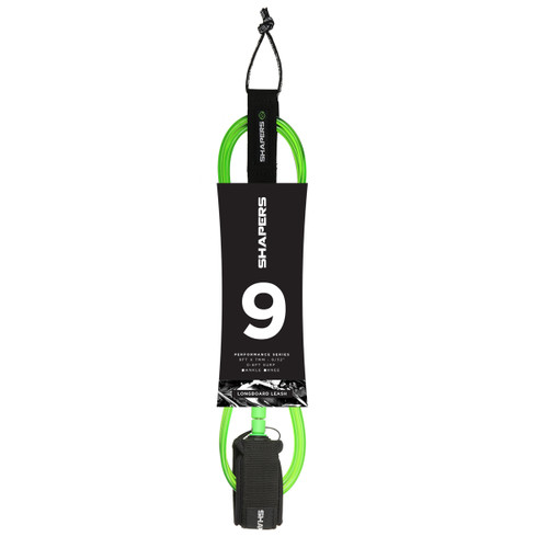 9Ft Longboard Leash: Green