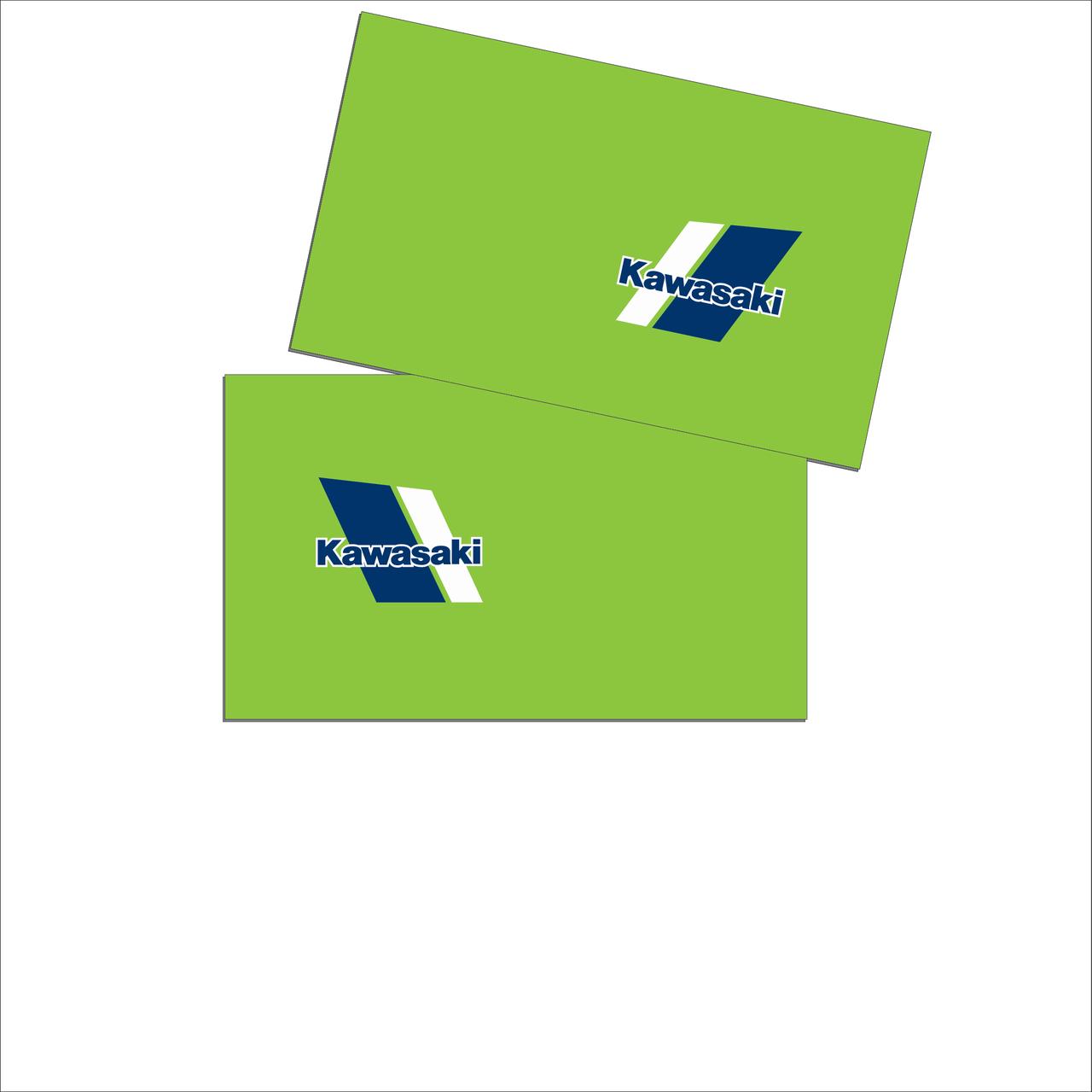 Kawasaki Universal Sheets Small Logo Perforated
