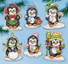 Design Works - Penguins on Ice Ornaments
