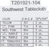 Design Works - Southwest 58in x 104in Tablecloth