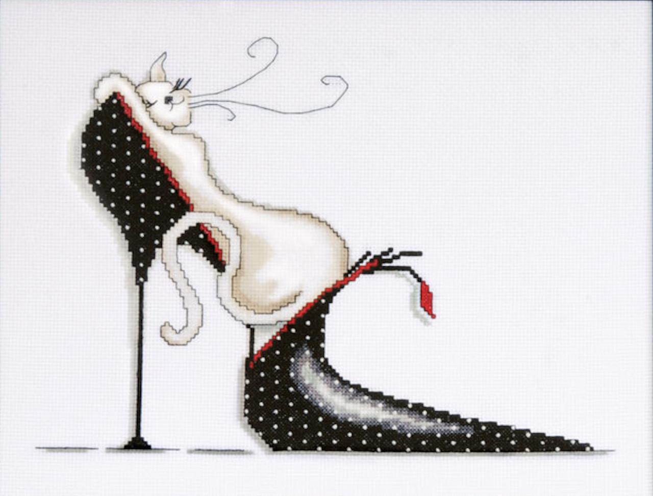 Design Works - Polka Dot Shoe Kitty
