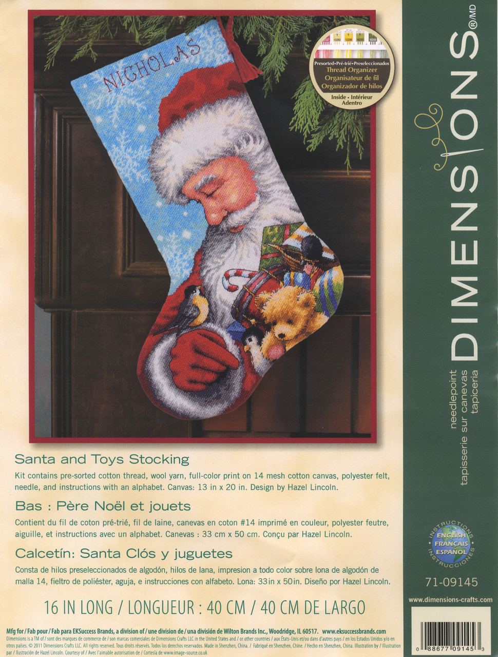 Dimensions - Santa and Toys Stocking