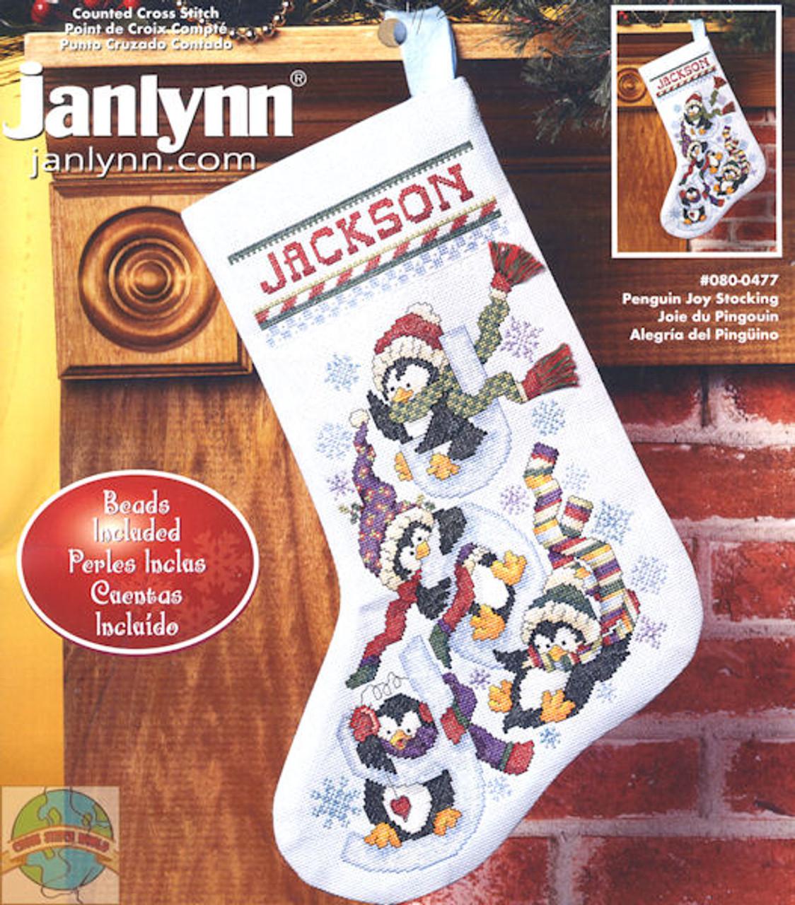 Janlynn - Penguin Joy Stocking