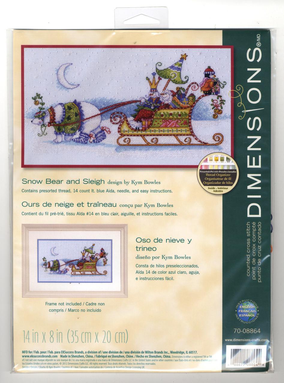 Dimensions -  Snow Bear and Sleigh