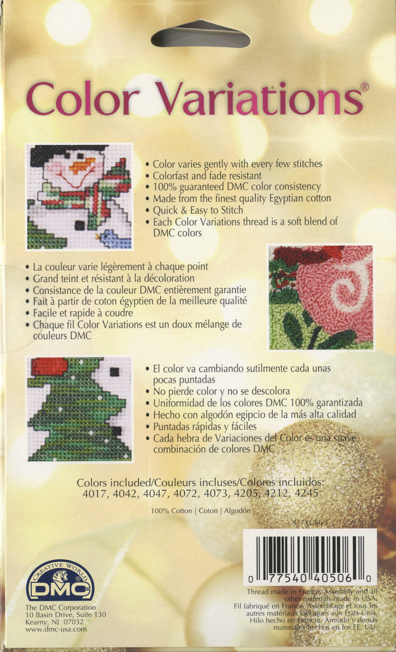 Dmc Color Variations Holiday Collection Crossstitchworld