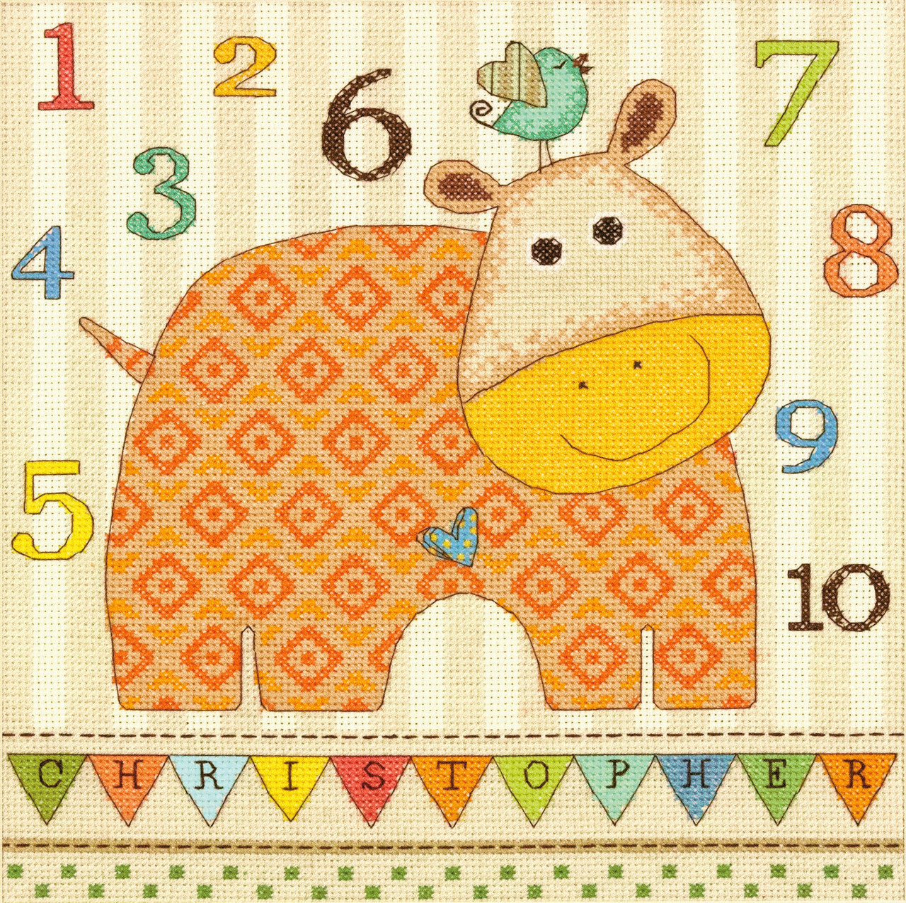 Dimensions - Baby Hippo 123 - CrossStitchWorld
