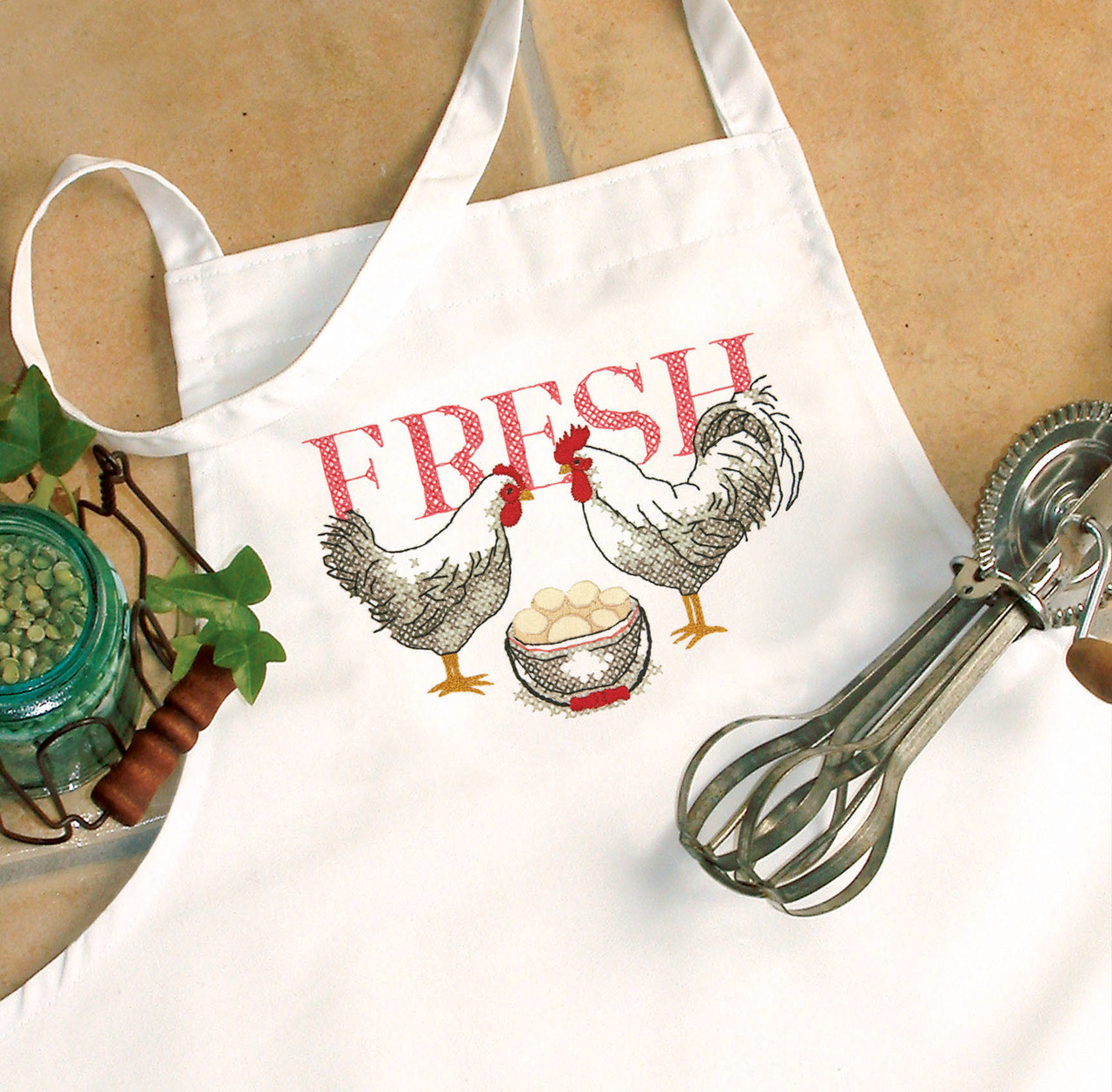 Dimensions - Rooster Apron