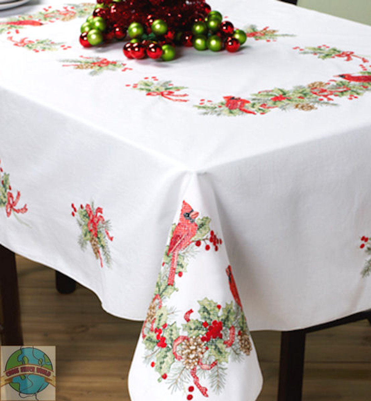 Plaid - Cardinals 60in x 90in Tablecloth
