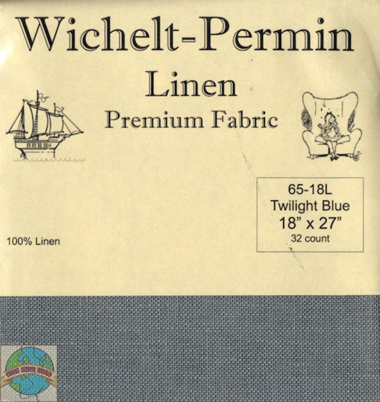 Wichelt - 32 Ct Twilight Blue Linen 18 x 27 in