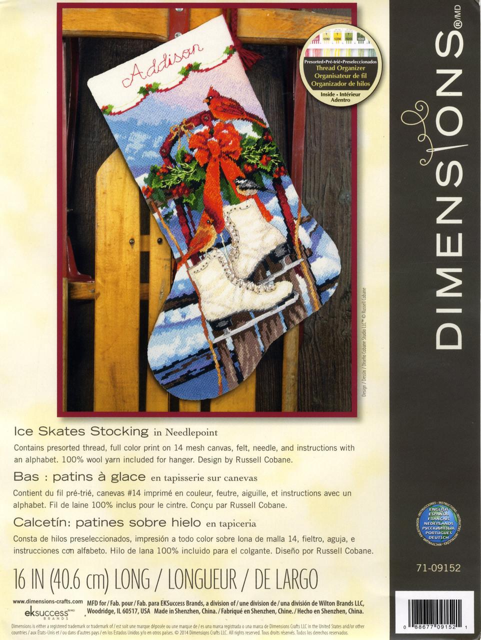 Dimensions - Ice Skates Stocking