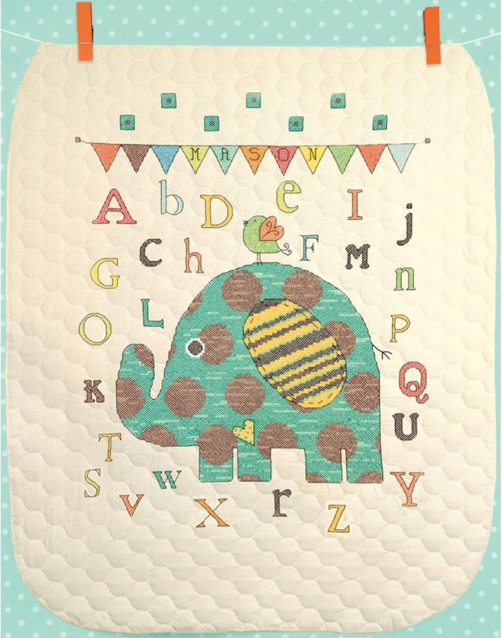 Dimensions - Baby Elephant ABC Quilt