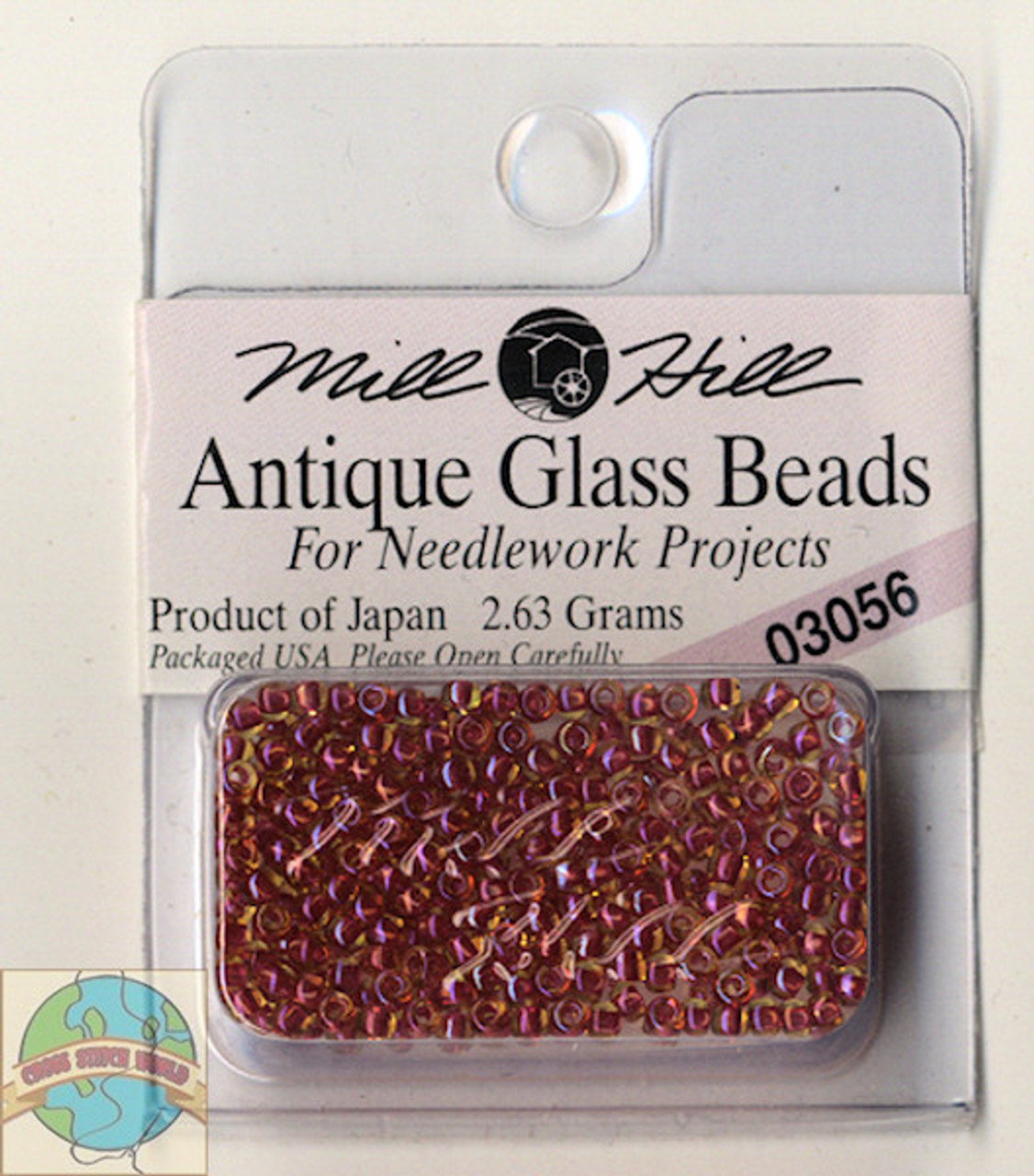 Mill Hill Antique Glass Beads 2.63g Antique Red