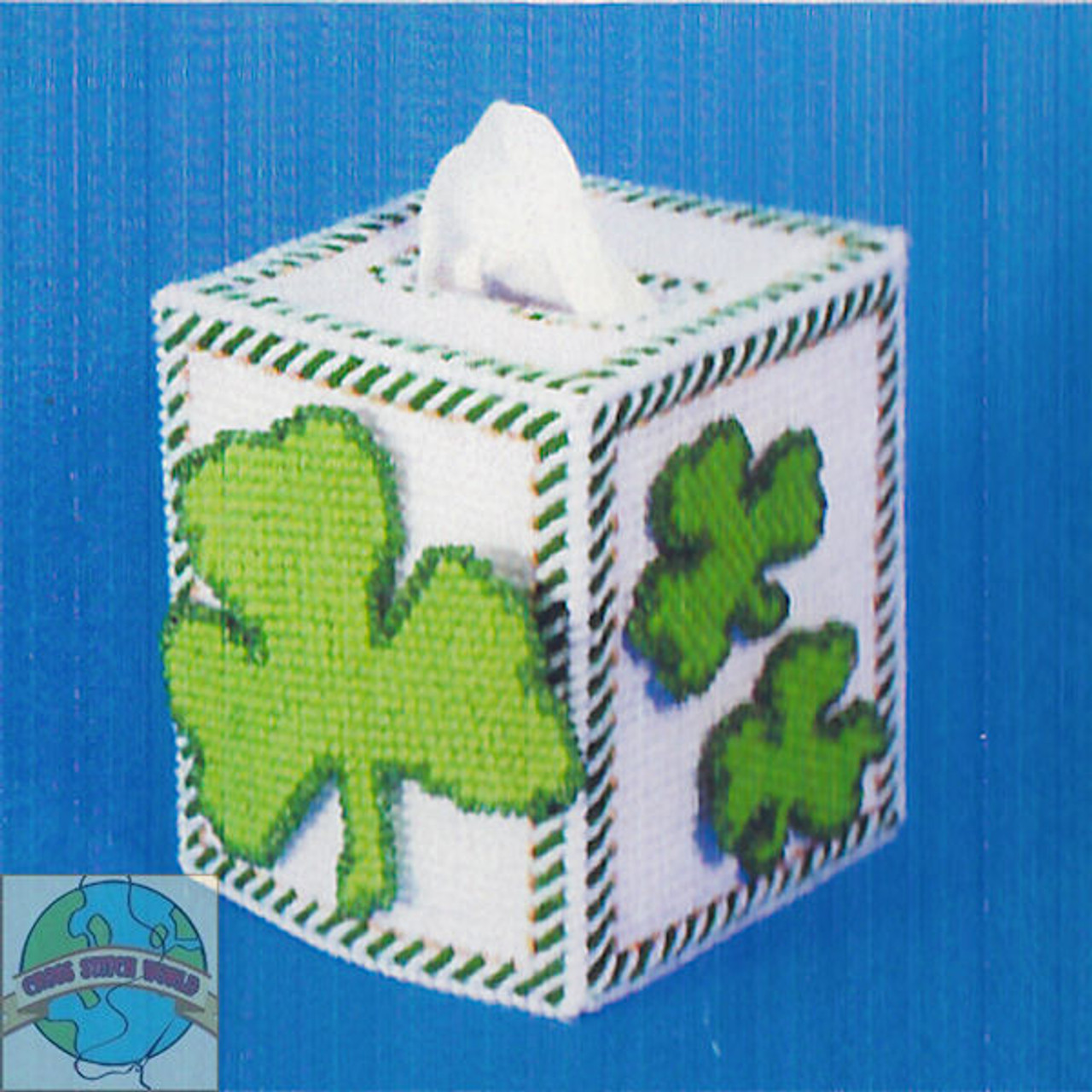 Design Works - Shamrock Tissue Box Cover - SALE!