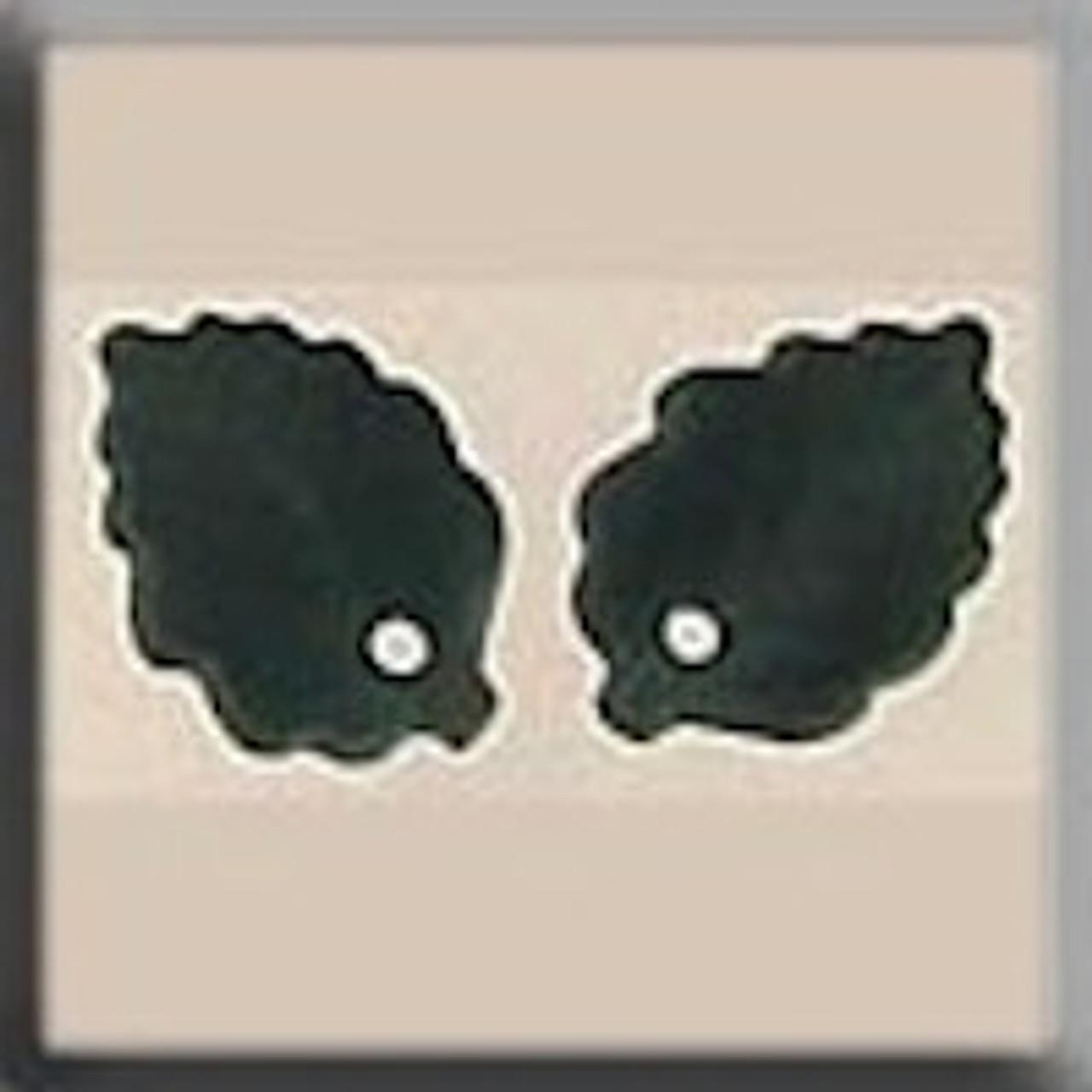 Mill Hill Glass Treasures - Medium Leaf Matte Tourmaline