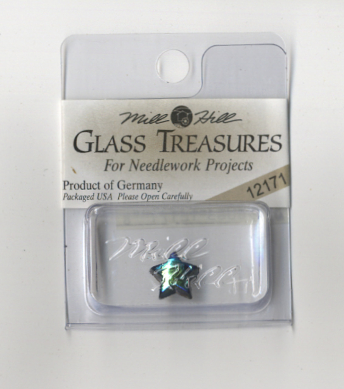 Mill Hill Glass Treasures - Medium Star Jet AB