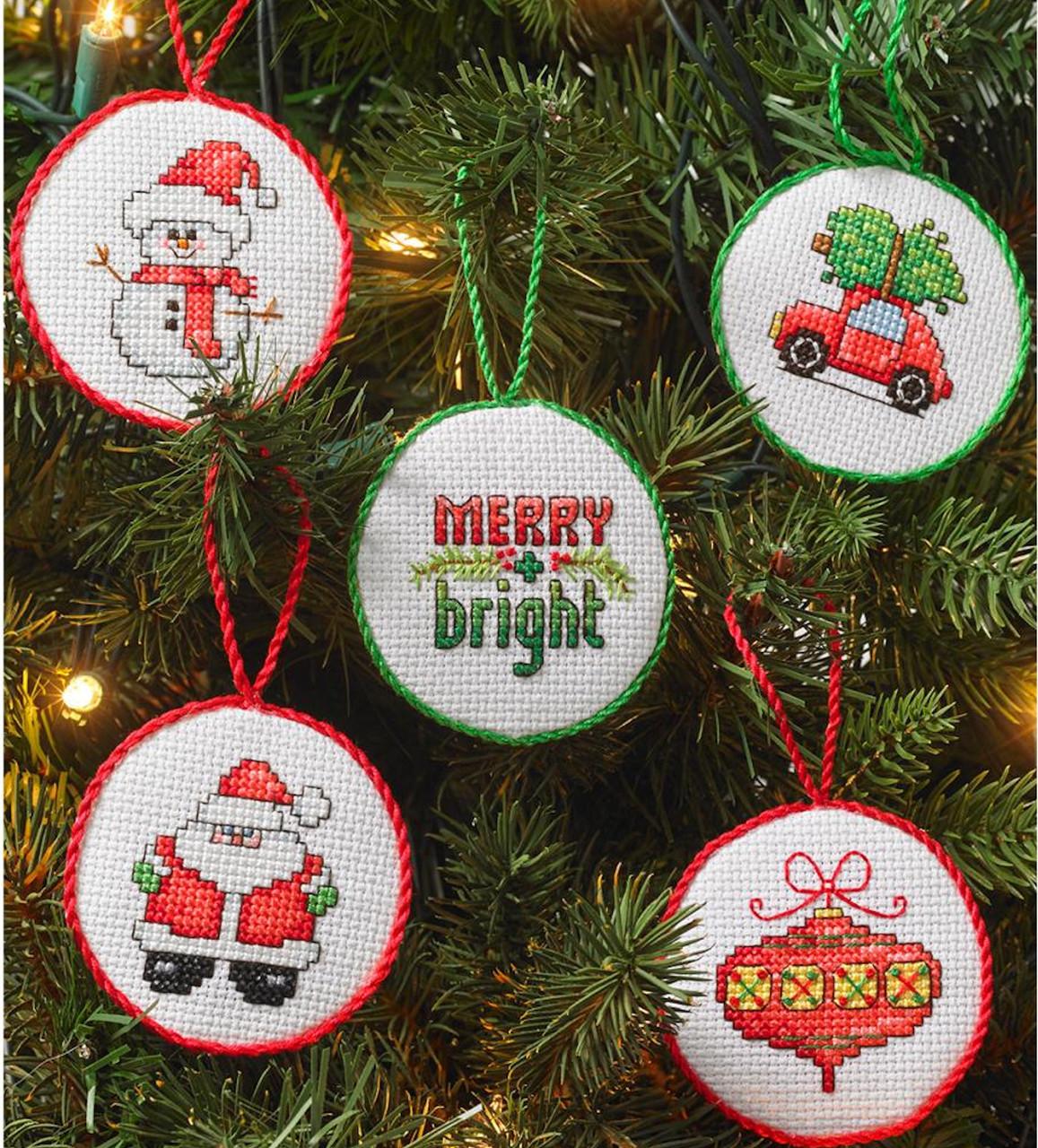 Plaid / Bucilla - Set of 30 Christmas Mini Ornaments