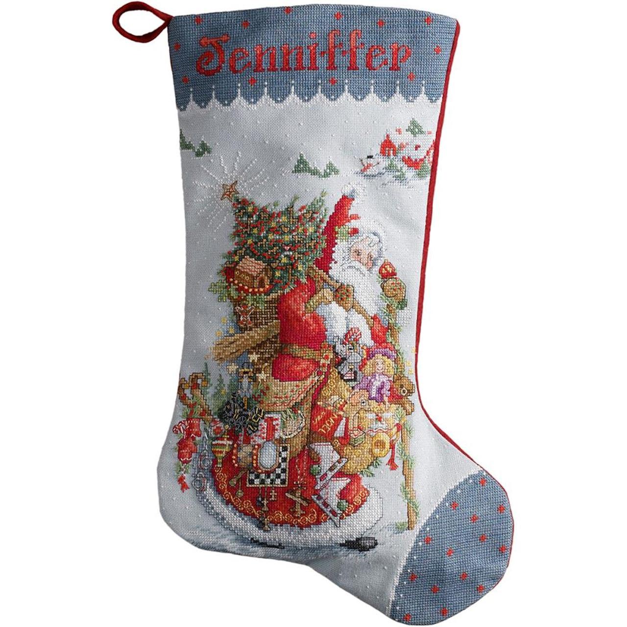 Plaid / Bucilla - Olde World Santa Stocking