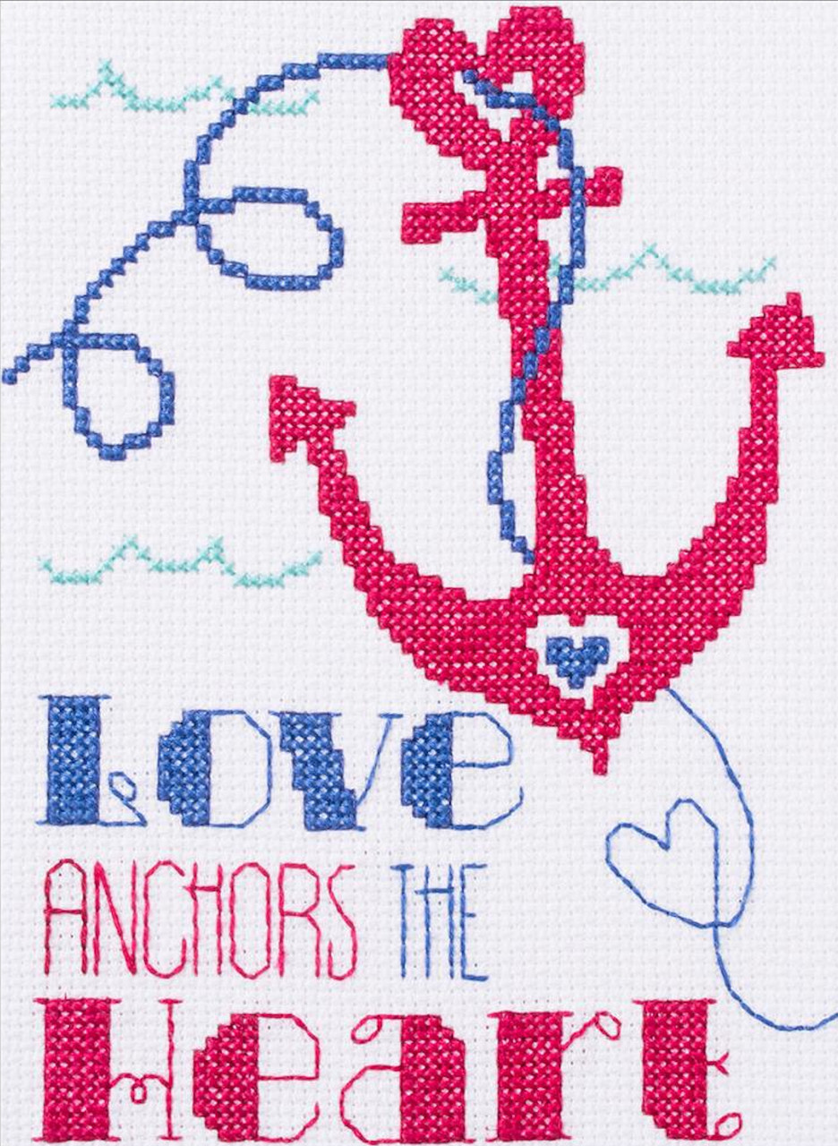 Plaid / Bucilla - My 1st Stitch - Love Anchors the Heart
