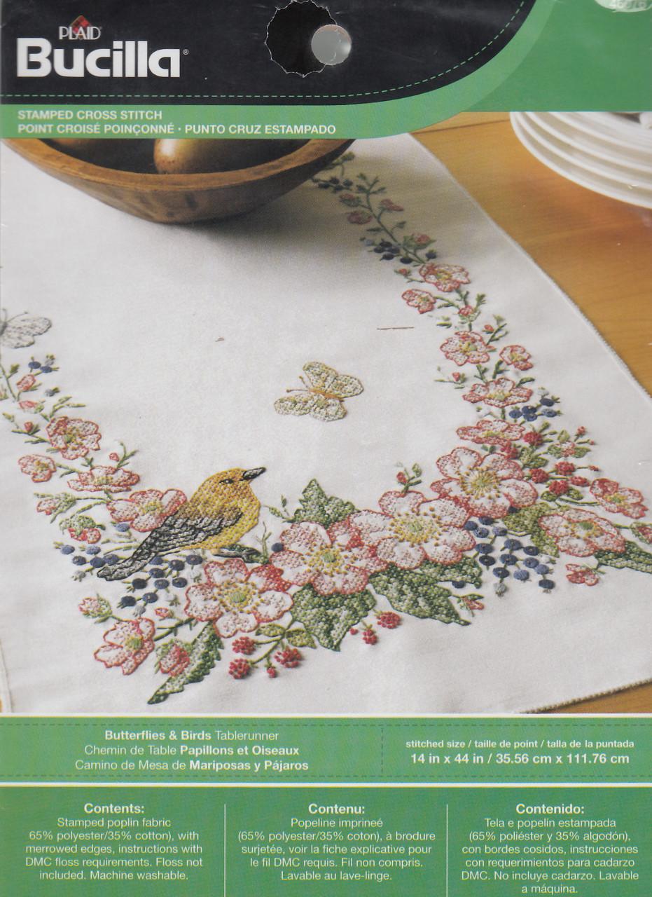 Plaid / Bucilla - Butterflies & Birds Table Runner