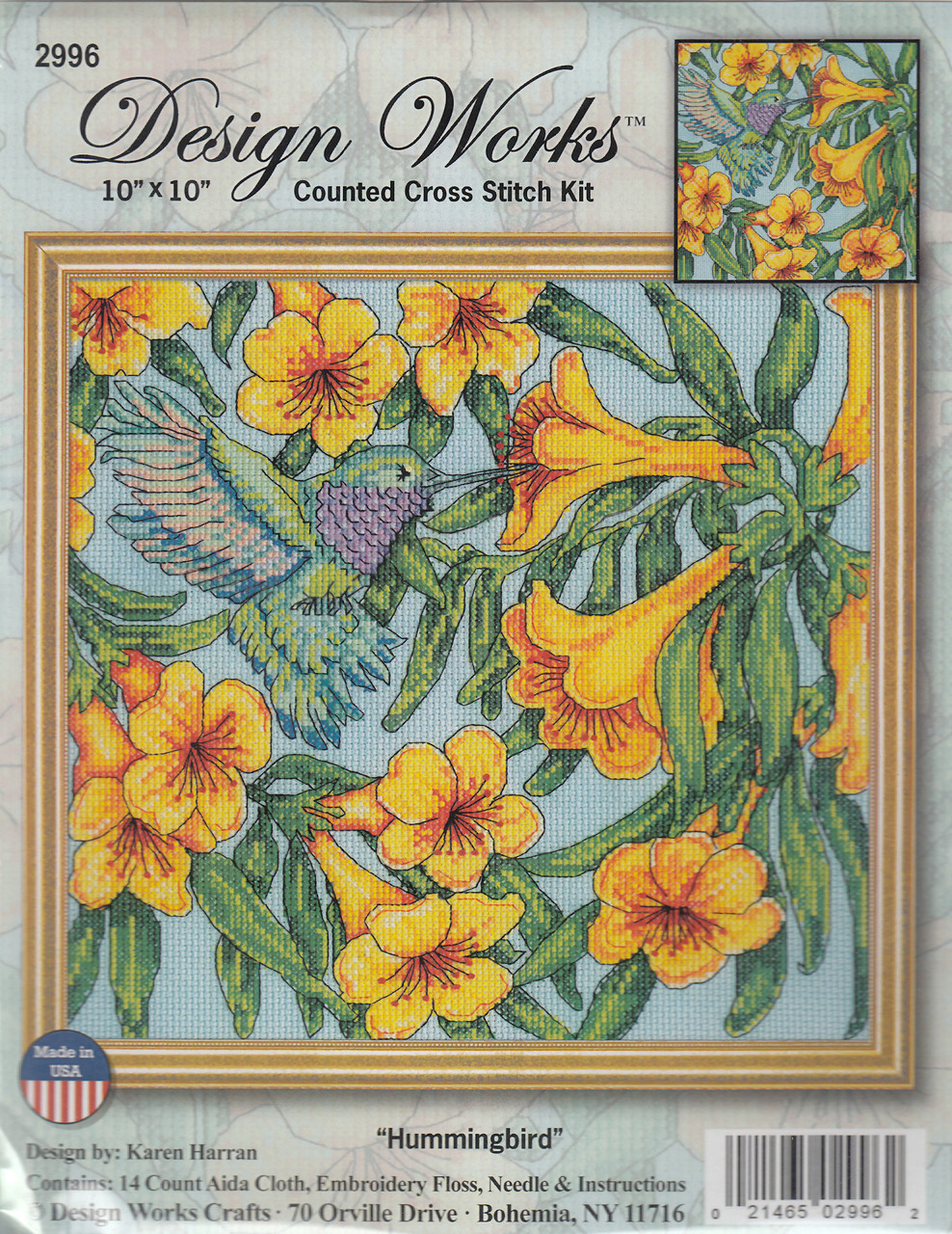 Design Works - Hummingbird & Flowers