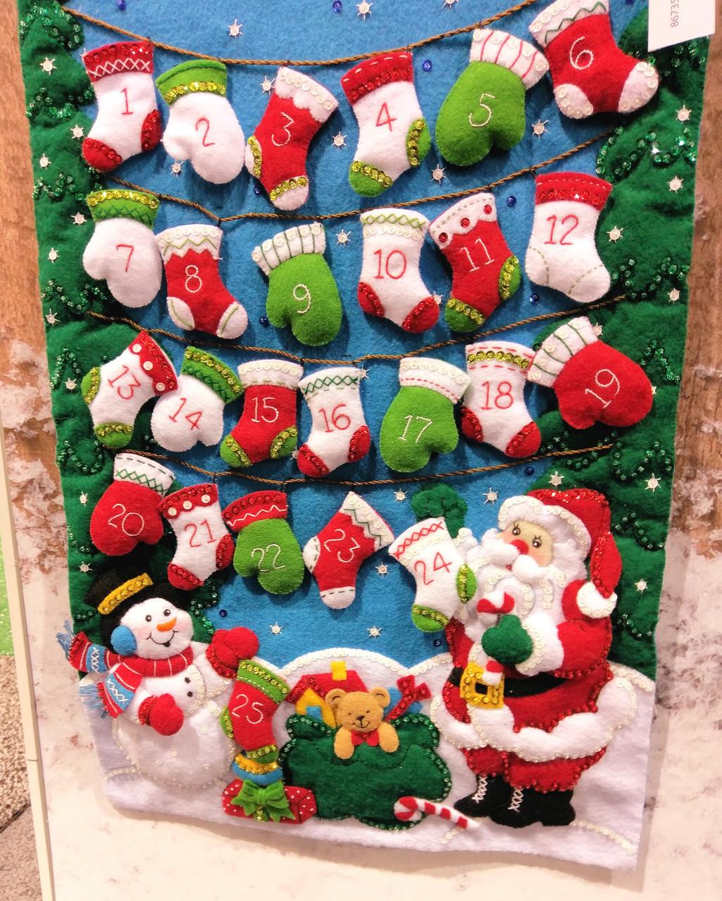 Plaid / Bucilla - Mittens and Stockings Advent Calendar