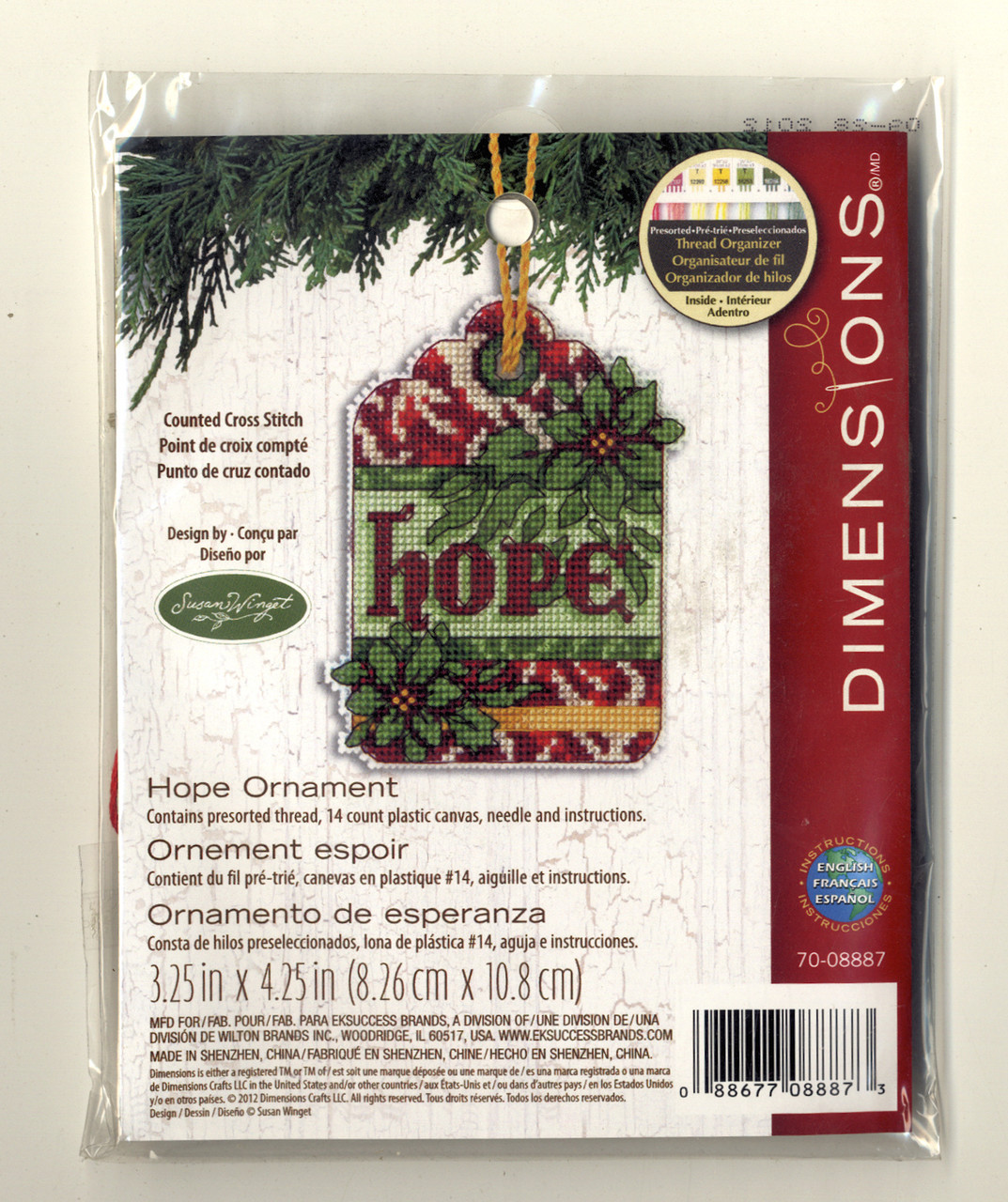 "Dimensions - ""Hope"" Ornament"