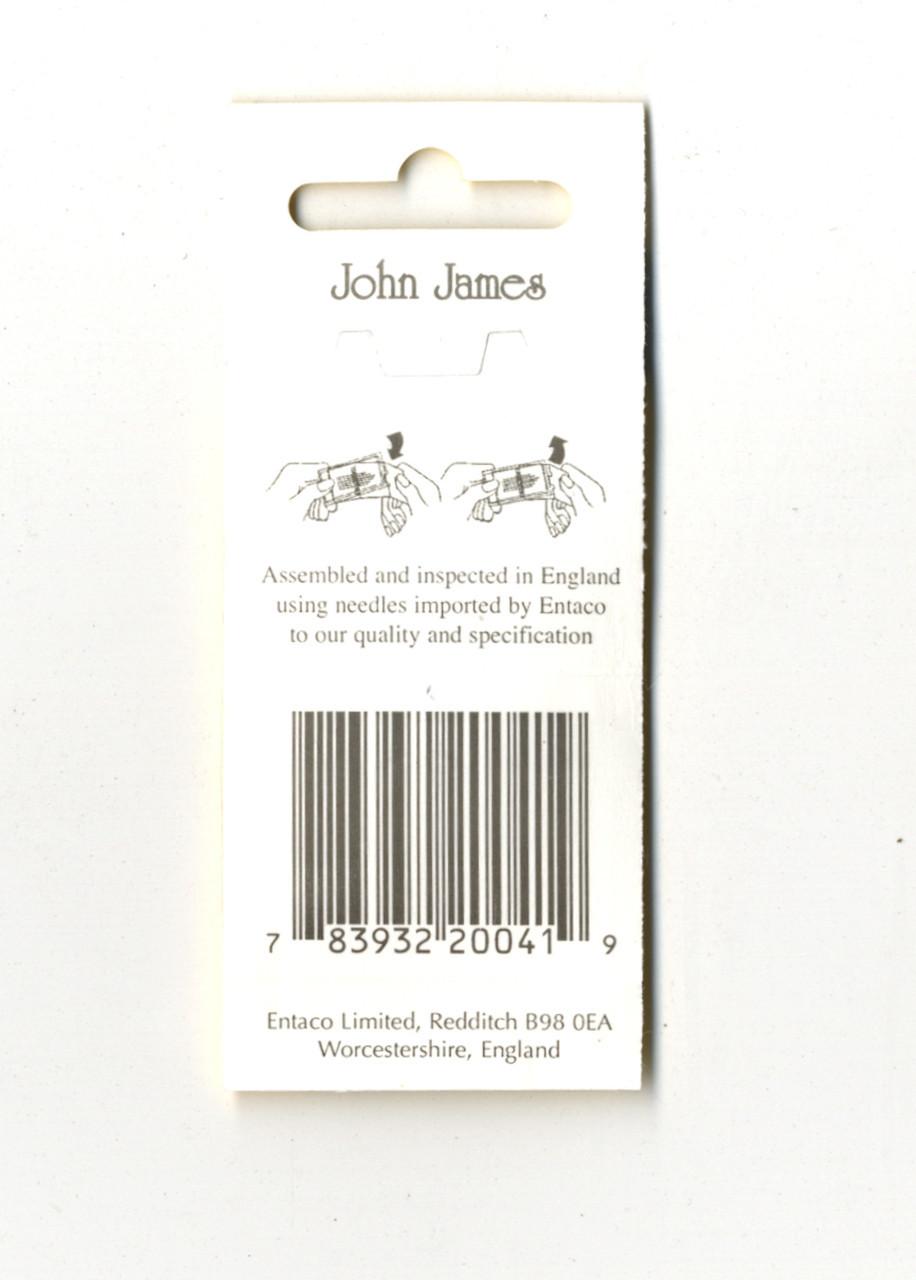 16 John James Size 5/10 Embroidery Hand Needles
