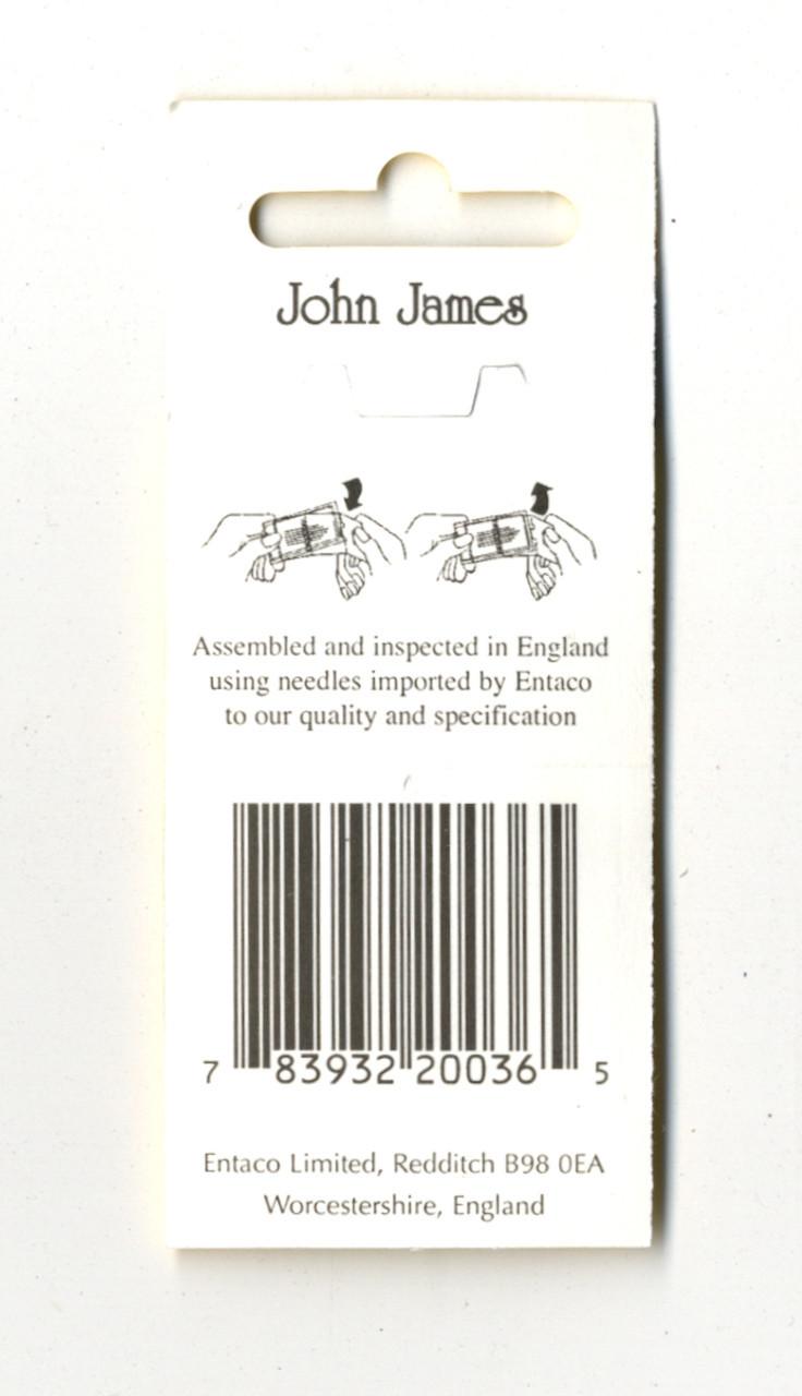16 John James Size 8 Embroidery Hand Needles